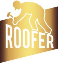 Roofer working icon