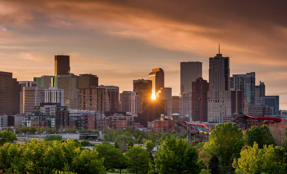 Denver With Gold Sun
